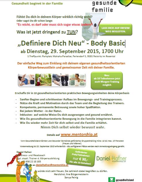 Definiere Dich neu - Body Basic ab 29 09 2015